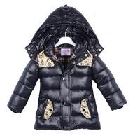 girls cartoon coat baby winter long sleeve warm jacket children cotton-padded clothes boys star outwear a-070