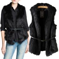 Fall Winter Coat Jacket Women Imitation Fur Spliced Knit Sweater Office Vest Warm Female Fashion Ladies' Slim Waistcoats