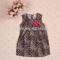 Sexy Baby Toddlers Leopard Flower Dress Kid Girl Cool Sundress Dress
