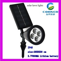 High Qualily Solar Power LED light Landscape Outdoor waterproof Garden Path Lawn Lamp Hexagonal ABS Plastic lamp body