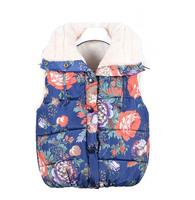 girls winter Vest Children autumn Outerwear Kids flower Vest Girl Cool Coat Girl Soft Waistcoat a-072