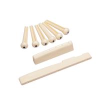 10set/lot Folk Guitar Bone Bridge Pins Saddle Nut,Ivory colour