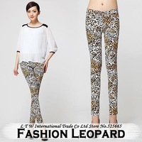 Autumn Leopard High Waist Long Pencil Tights Leggings XXL XXXL Plus Size Pants Women New Arrival 2014