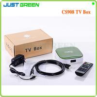 CS908 Quad Core Google Android 4.2 Smart TV Box 1GB 8GB Allwinner A31S Full HD1080P Remote Control RJ45 WIFI 4K PLAYER 3D