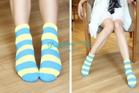 Short Socks Campaign Stripes Candy Color Socks Free Shipping
