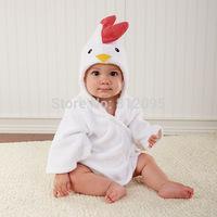 2014 Retail 1 pcs Baby Cute hooded bathrobe/ baby bath towel/bath infant animal design bathing robe Little Spring GLZ-O0043