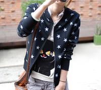 Fashion Brand Autumn Women Star Print  Sweatshirt Hoody Hoodies Cotton Tracksuits Cardigans Sport Suit Tops Outerwears Plus Size
