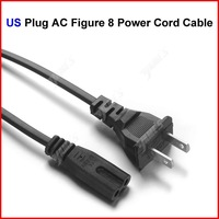 ( 30 pcs/lot ) US Plug AC Figure 8 Power Cord Cable 1.5m 5FT For Battery Charger AC Power Adapter Laptop Wholesale
