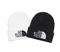 2014 New Knitting Winter Wool Acrylic Brand Beanies Hip Hop Warm Hats / Gorros / Bonnets for Fashion Caps DA KUTE FACE H004