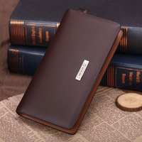 Fashion men business clutch bag, genuine leather men business zipper wallet,clutch purses, card wallet