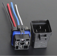 2 Sets Automobile Car Relay 12v 40A 4PIN Waterproof Integrated Relay With Wire