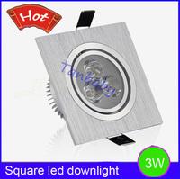 Free shipping Spot led downlight 3W High power led Square down light led light white or warm white AC85-265V luminaria led