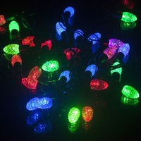 4m Waterproof colorful 40leds corn crystal LED String Color for Party Wedding Chrismas EU plug 85838