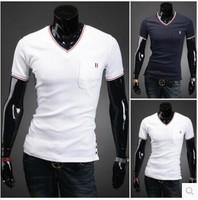 T Shirt Men 2014 Camisa Masculina V Neck T Shirts For Men Fitness Famous Brand Short Sleeve Blusas Masculinas Casual T Shirt