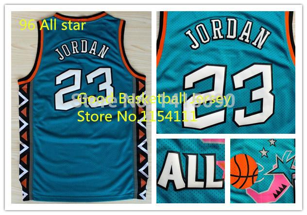 Michael Jordan #23 1996 All Star Jersey, Cheap Brand Mesh Embroidery Logos Michael Jordan Basketball Jerseys, Free Shipping(China (Mainland))