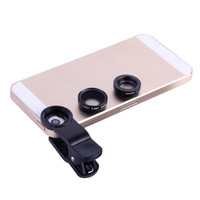 2014 New Clip Universal Mobile Phone Black Fisheye Lens 2in1 Clip-On Wide Angle + Macro Lens For iPhone 4 5 Samsung Galaxy S4 S5