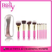 Hot Sale Pink Red Color Makeup Brushes 9 PCS Makeup Brush Set Beautiful Make Up Brushes Gift Brush Set
