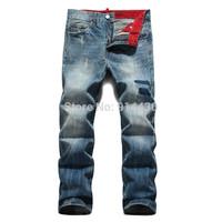 New Arrival Men's Jeans Pants, Ripped Jeans Trousers, Brand Designer Jeans Men Light Color