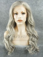 """S07 Style 24"""" long body wave mix color hair fashion wig Lace Front Heat resistant Synthetic Hair party cosplay lady women Wig"""