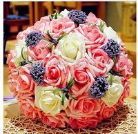 Standard 30 super beautiful  rose Korean bride holding flowers Wedding bouquet simulation shipping