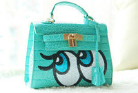 2014 New Autumn Platinum Package Cute Handbags,Small Alligator Bag Handbag Lock decoration 4 colors