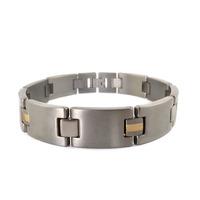 "Free Shipping Fashion Jewelry Healing Magnetic Bracelet Titanium 8.5"" Magnetic Titanium Bracelet OTB-216SG"