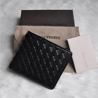 1:1 high quality brand wallet designer Pure manual weaving Wallet for men and women's 1pcs/lot Black plaid sheepskin purse