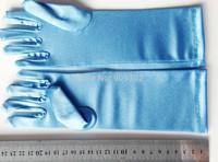 Full finger gloves frozen elsa gloves costume Long Blue gloves snow Queen Elsa Cartoon Party Costumes children's gloves warmers