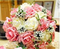 Standard 30 Artificial flowers rose beautiful  rose Korean bride holding flowers Wedding bouquet free  shipping