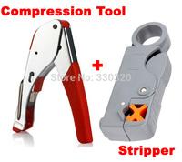New Multi Compression coaxial cable crimping tool F RG6 RG58 RG59 connectors Coax Crimper coaxial cable stripper