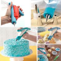 Pastry Icing Piping Bag Nozzle Tips Fondant Cake Sugar Craft Tools Decorating Tip Pen Sets Free Shipping 1set/lot