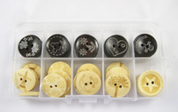 Free Shipping Wholesale 50pcs 20MM 2-Holes Natural Color  Wooden Buttons Clothing Accessories DIY 004009004