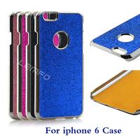 "Aluminum Metal Case Luxuary Brushed Chrome Diamond Shining Dust Glitter Powder Hard Protective Back Cover For iPhone 6 4.7"" New"