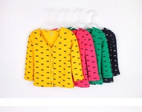 Free&Drop Shipping, Autumn-Winter Thick Children Cardigans Coat Horse Printed With Fleece Inside Boys Girls Warm Jacket Outwear