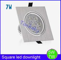 Free shipping 5W /7W led spot down lights High power luminaria led indoor led lighting white,warm white high brightness