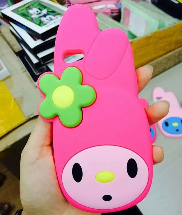 2014 3D cartoon New Arrival the Big head melody case cover For iphone 5 5s soft silicone case cell phones cell phones(China (Mainland))