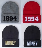2014 Winter High Quality Super Thick Money Beanie For Men Women's Autumn Knit Cotton 1994 Wool Hat Hip-Hop Cap Free Shipping