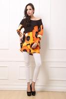 2014 Party Dresses Korean Natural Knitting O-neck Fashion Brand New Women's Autumn Dress Big Yards Long Sleeve Knit Hot Drilling