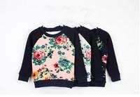 Autumn Winter Thick Boys&Girls Warm Long Sleeve T Shirts Flower Kids Fleece Plush T-shirt TopsBasic Shirt 3 Colors