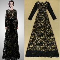 2014 European and American fashion ladies sexy aristocratic temperament Slim elegant dress