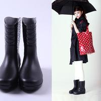 2014 fashion woman rainboots shoes ladies autumn boots female simple design low-heel rainboots rain boots for women   XY280