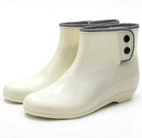Hot sale fashion woman rain boots rubber shoes women's short waterproof shoes warmming cotton design low-knee boots   XY281
