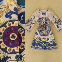 European Grand Prix  ladies vintage handmade woolen wheel printing Winter Jacket