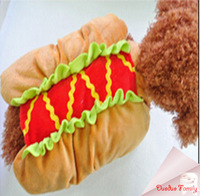 Spring and fall Hot dog vegetables turned loaded Cartoon Role fit Chihuahua, poodles,bulldog,yorkshire puppy dog post it free
