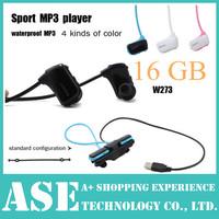 W273 16GB Sport MP3 wireless headset mp3 player W273S Walkman Running mp3 high High quality stereo drop shipping