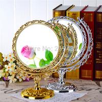 vintage desktop makeup mirror vanity mirror beauty mirror rotating mirror oversized 1:3 magnification dual size mirror
