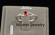 Niceter Vintage Princess Cut Cubic Zirconia Diamond Rings For Women Wedding Rings For Women Anillos Ruby