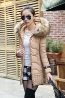 Winter jacket women Coat Down jacket Plus size Duck down Sexy XXL Fashion Long 2014 new White Black Female dtyrf030
