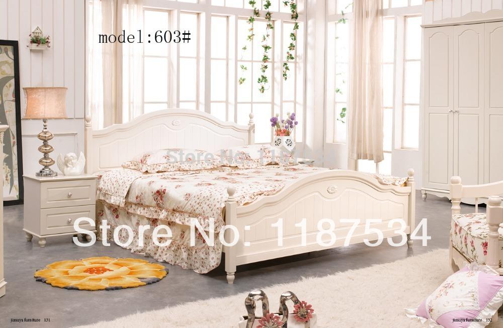 Modern home furniture bedroom set bed wardrobe nightstand bedroom furniture set(China (Mainland))