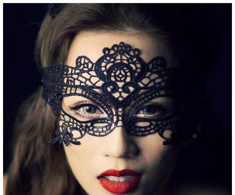 Halloween Costumes Girl Women Sexy Lace Eye Mask